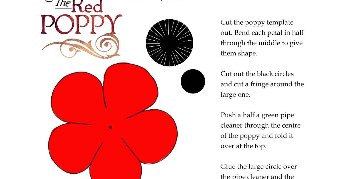 Fifi Colston Creative: Remembrance Poppy Template