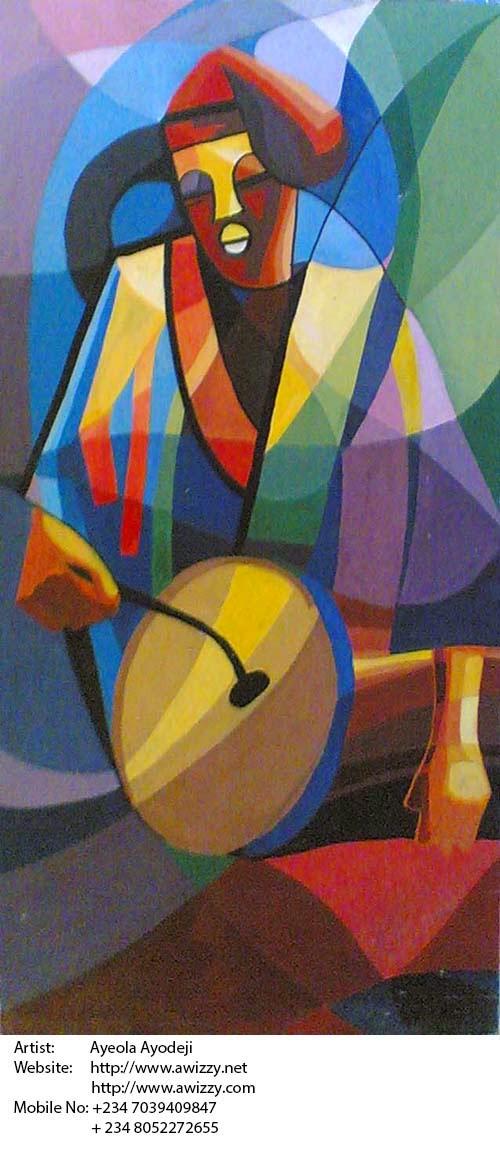 african art painting by best artist in nigeria and renown nigerian painter ayeola ayodeji abiodun