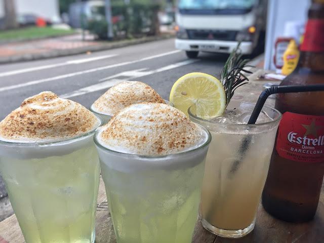 MEATliquor SINgapore - Tequila & Rosemary, Pina Colada, Estrella