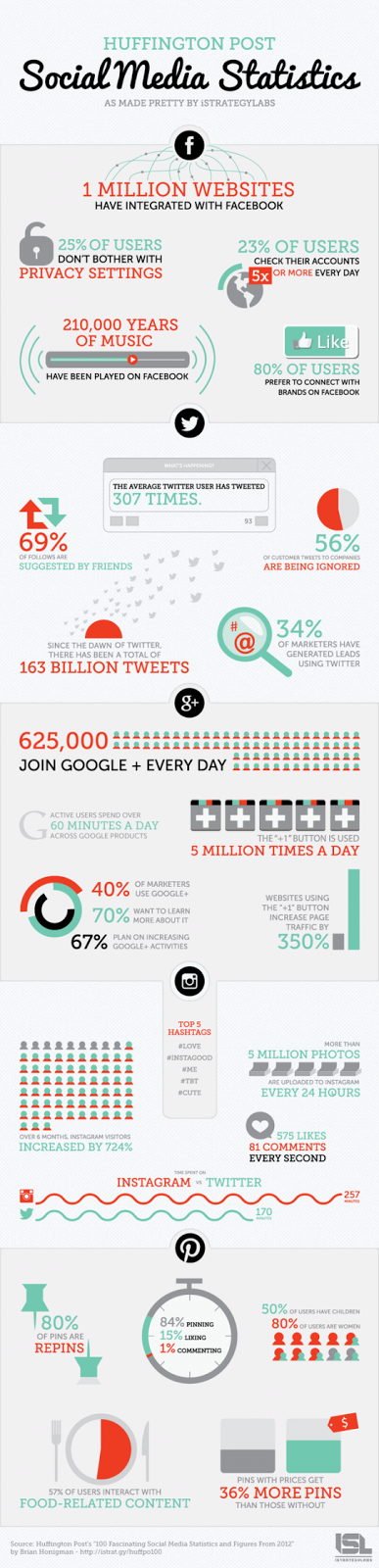 Social Media Statistics 2013