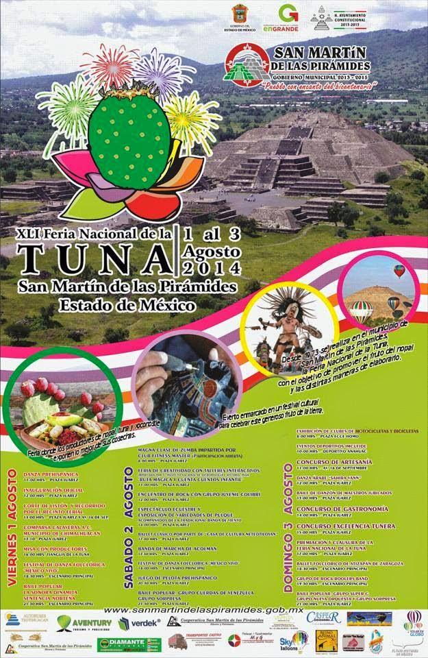Feria de la tuna san martín de las pirámides 2014