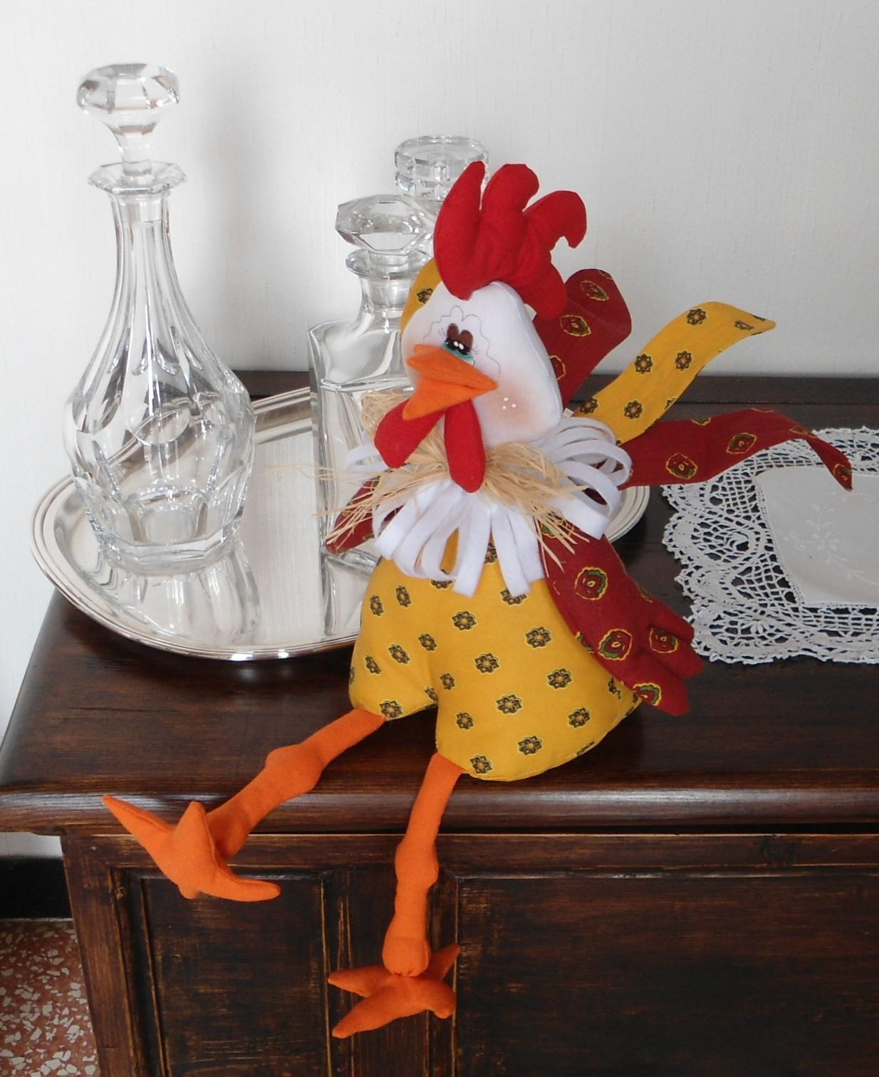 Un gallo nel pollaio un mondo di pezza for Fermaporta cartamodello