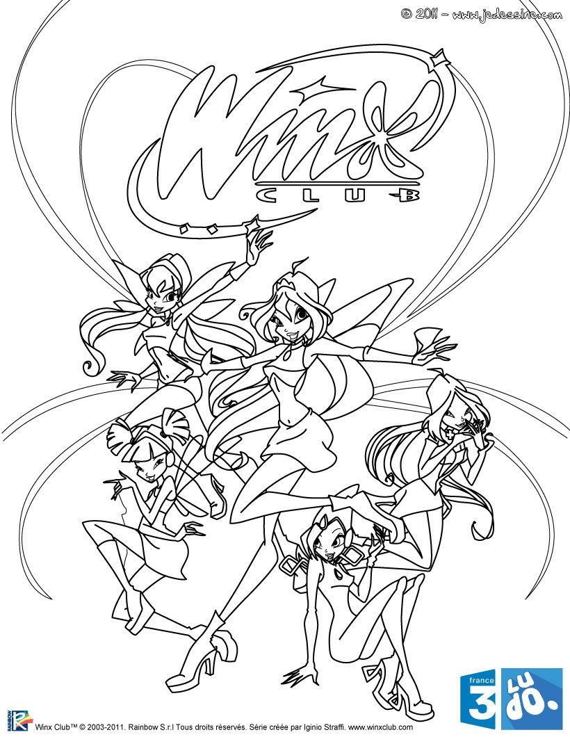 Winx Club All: Colorear: agosto 2012