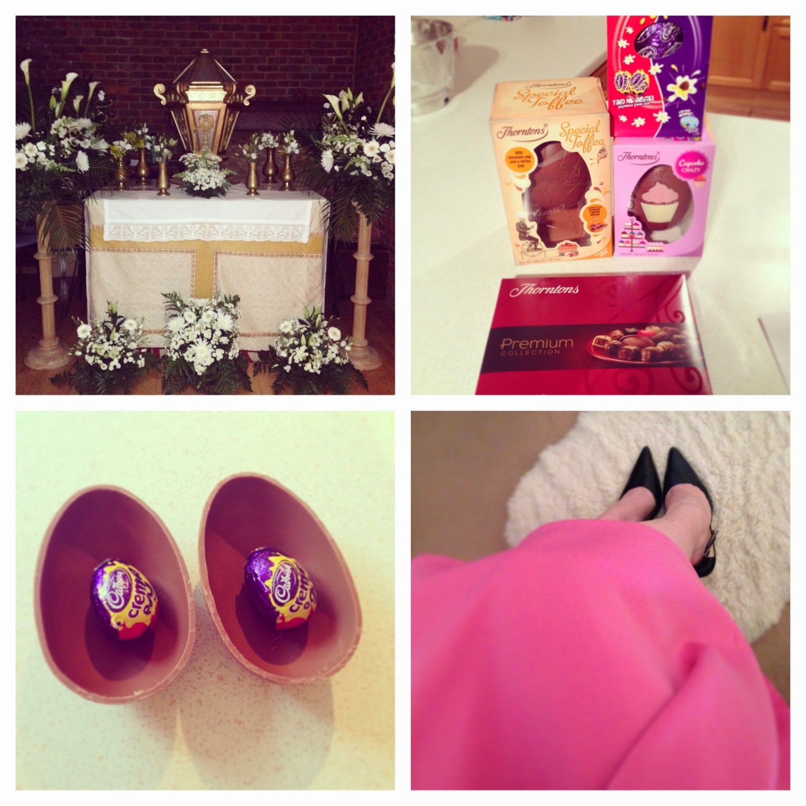Easter time, chocolate and pink skirt