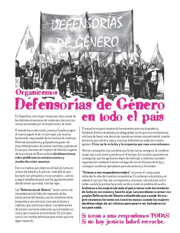Boletín Defensorías de Género 1