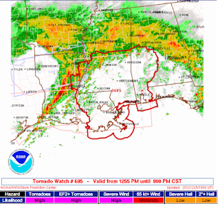 The Weather Centre: **PDS Tornado Watch For: LA/MS/AL**