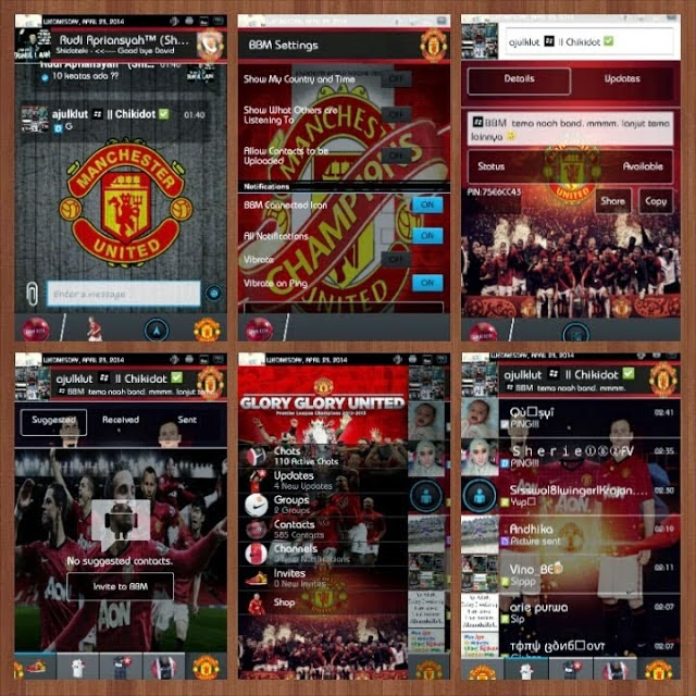 BBM+ ( Plus ) Mod Club Machester United