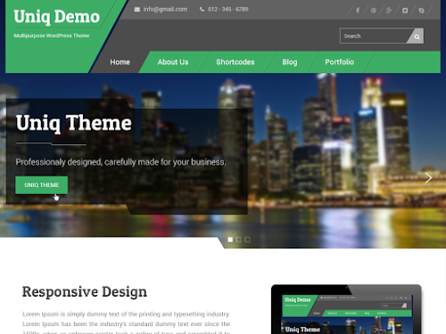 Download Tema WordPress Uniq