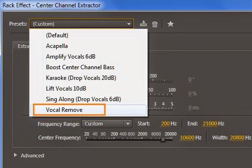 Hapus vocal lagu memakai software
