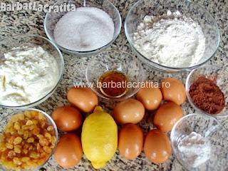 Prajitura cu branza dulce si stafide ingrediente reteta