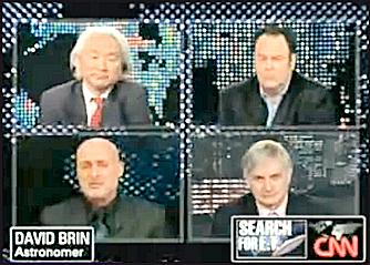 LARRY KING LIVE - Dr. Michio Kaku, Dr. Seth Shostak, David Brin and Dan Aykroyd