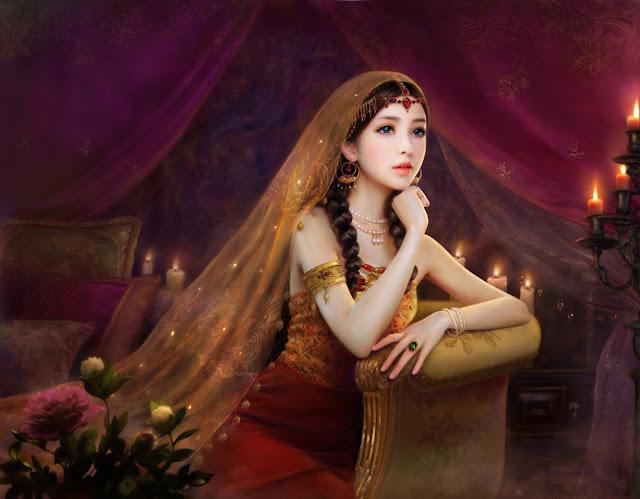 Rouxing Zhang,digital art,beautiful girl