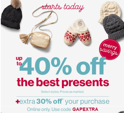 Gap Up To 40% Off Best Presents + Extra 30% Off Promo Code