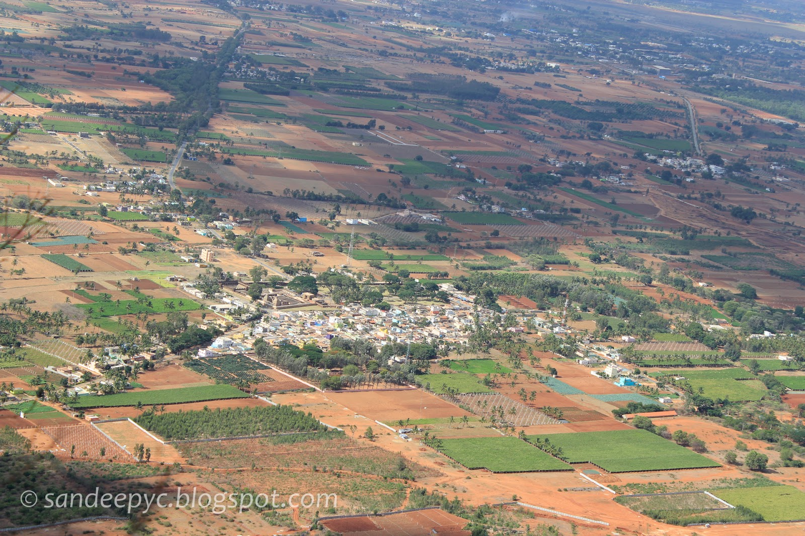 View of the town from the view point at Nandi hills