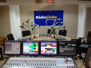 Novo estúdio da Rádio Globo Rio