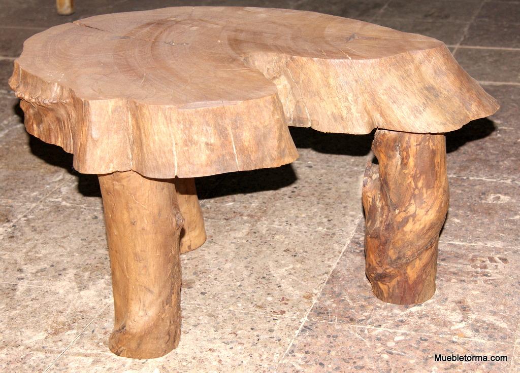 Mesa rustica troncos y ra ces - Mesas de troncos de madera ...