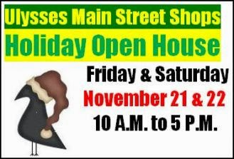 11-21/22 Holiday Open House, Ulysses