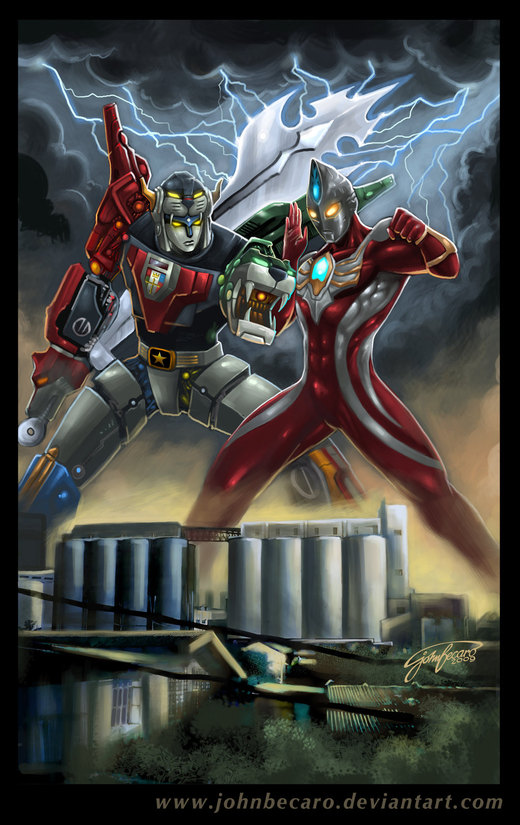 Voltron Vs Ultraman Max por johnbecaro