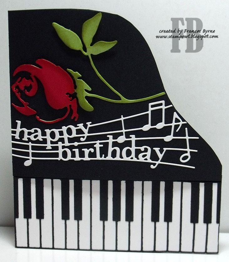 StampOwl's Studio: Piano Happy Birthday