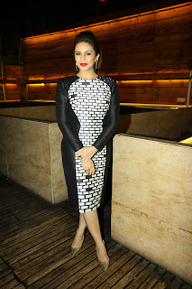 Bollywood Actress Huma Qureshi Picture Gallery in Short Dress at The Cineblitz Magazine Cover Launch  17