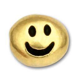 Smile Symbol Silver Beads