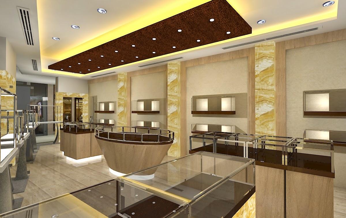 Gurooji design jewelry store design for Jewellery interior designs