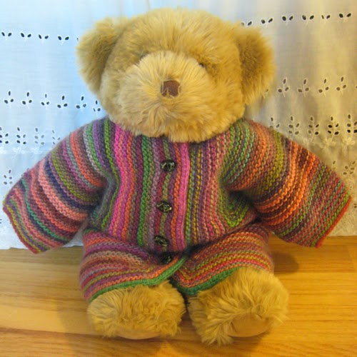 Knot Knecessarily Known Knitting Teddy Bear Baby Surprise Jacket