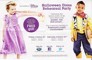 Disney Store Halloween Dress Rehearsal Party - Free Gift