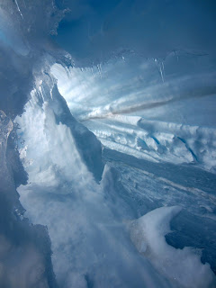 A look inside that crevasse.