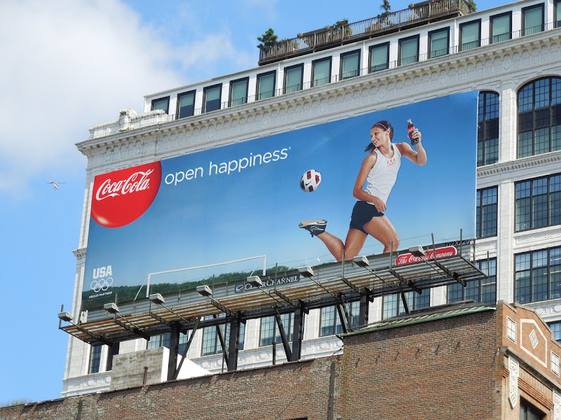 Coke Olympics 2012 womens soccer billboard NYC