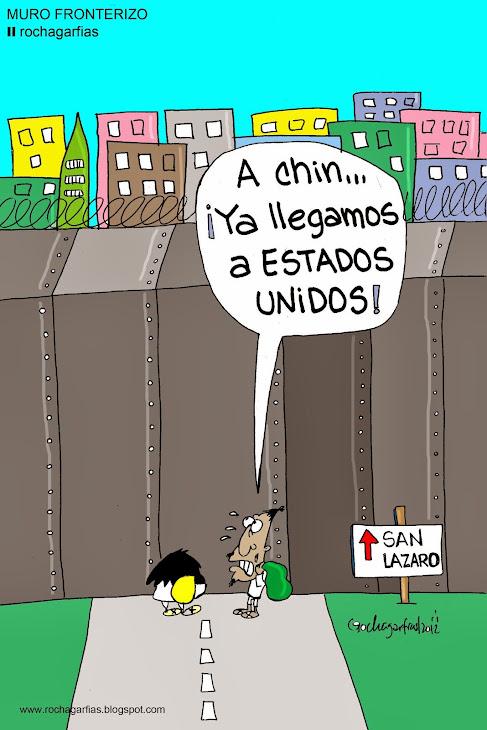 Muro fronterizo en el DF.