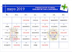 FARMACIAS DE GUARDIA MES DE MAYO 2019