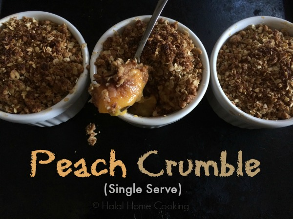single serve peach crumble recipe
