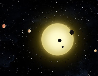 everything under the sun image showing kepler 11 solar system with 6 planets revolving around its star (also known as sun of kepler 11)