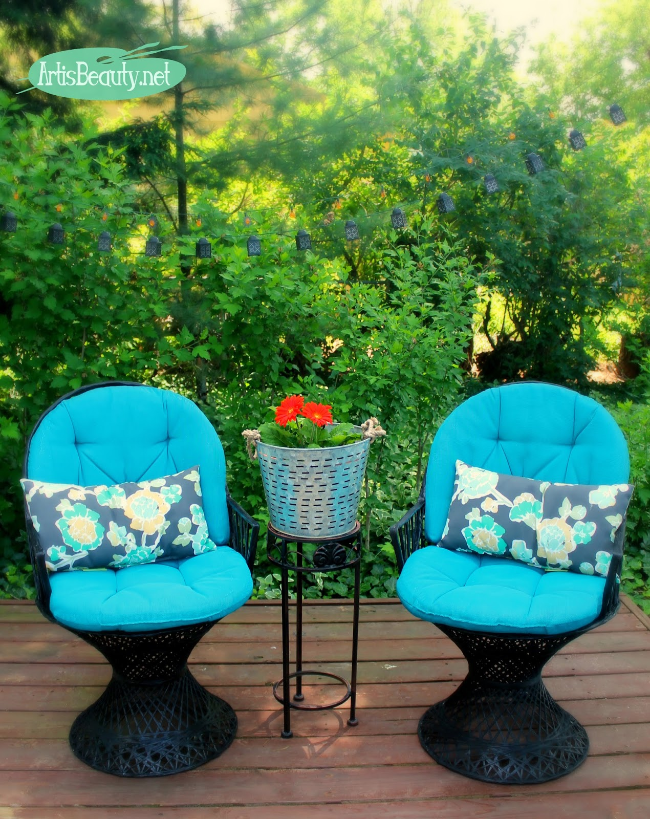 Marvelous ART IS BEAUTY Roadside Rescue Free Russell Woodard MCM Patio Chair set Spray Painted Makeover
