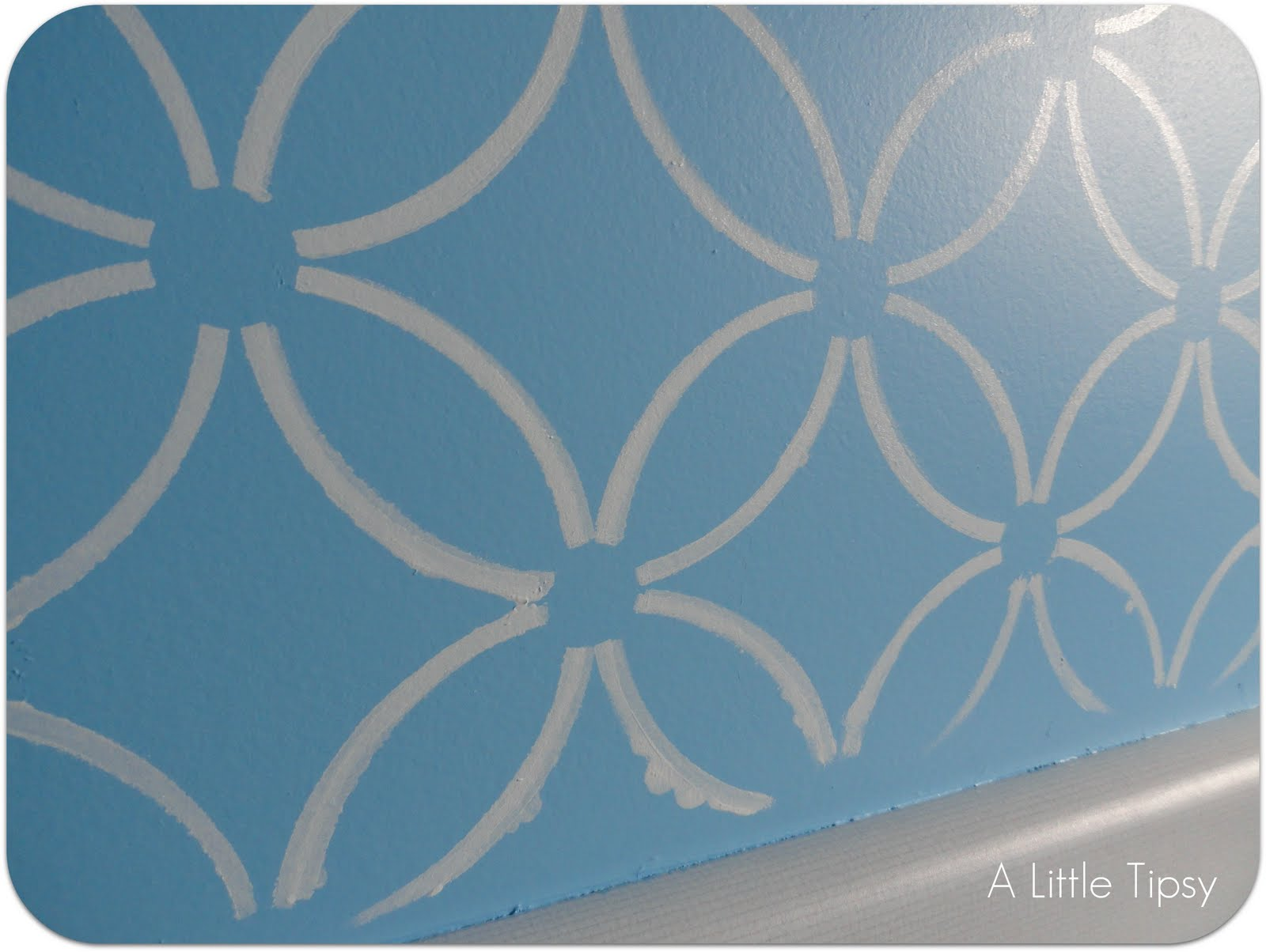 Zinnia Stencil Printable my first stenciled wall