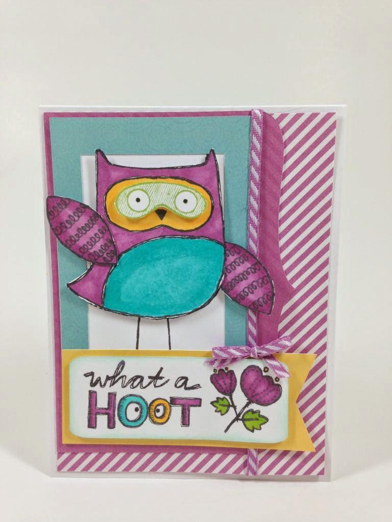 Cricut Artbooking Hoot Owl card