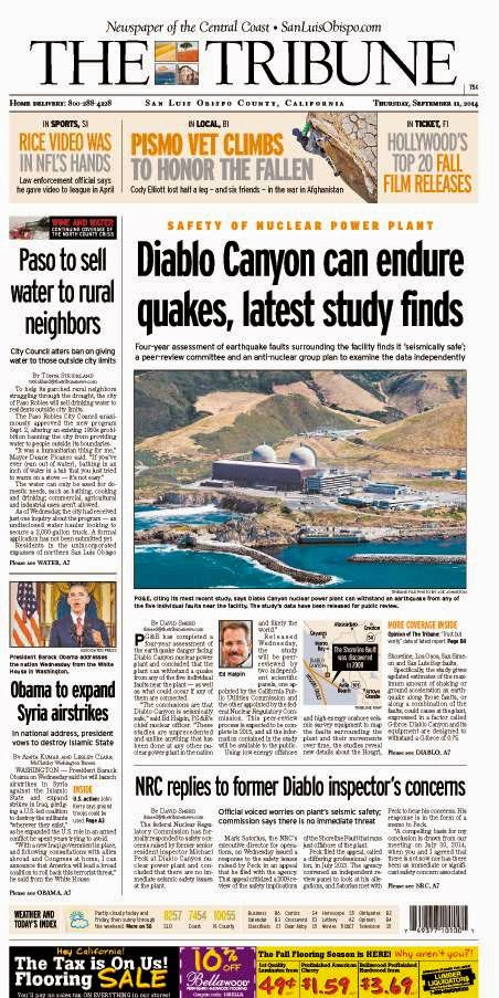 Why Diablo Canyon is Safe from Earthquakes