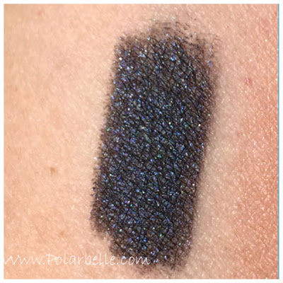 black, blue shimmer, swatches, review