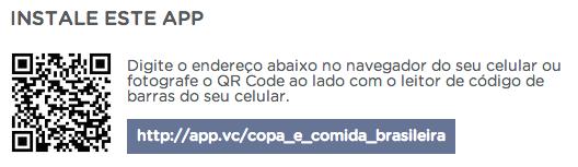 Aplicativo Copa e Comida Brasileira
