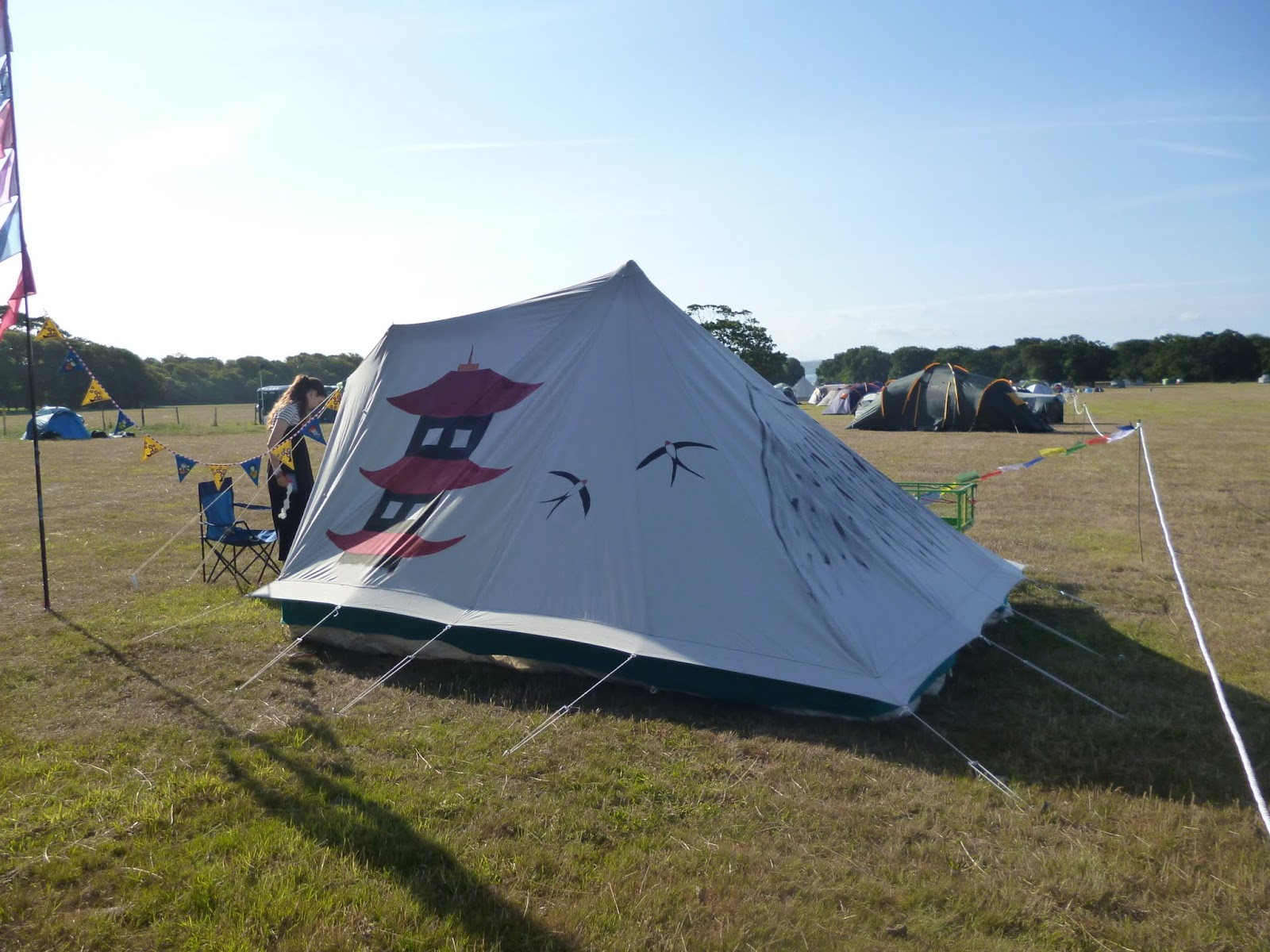 painting a cabanon 4 man pyramid tent with fabric paints & Painting a tent - Take two