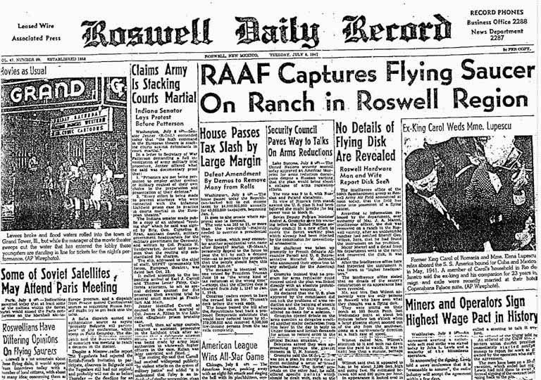 Caso Roswell Periódico