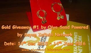 gold, giveaway, qiya, saad, sayap, infiniti, network