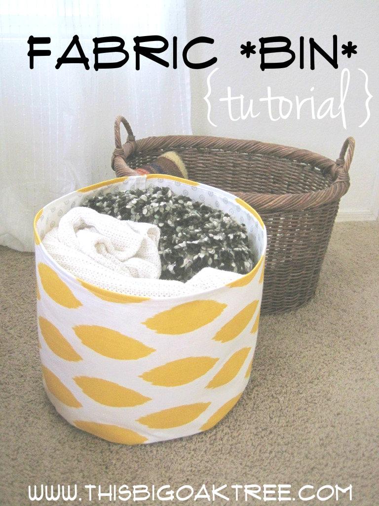 12 Creative DIY Fabric Bins