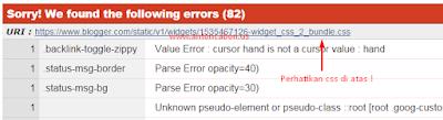 Error CSS3