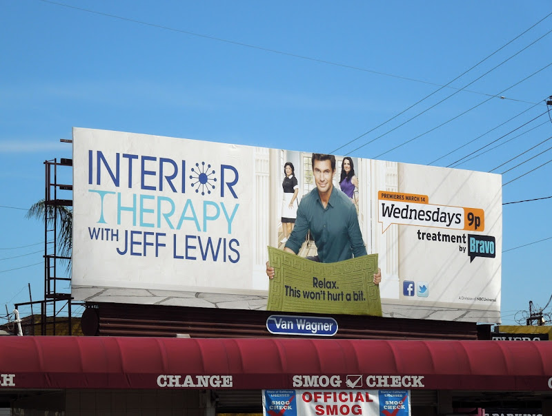 Interior Therapy Jeff Lewis billboard