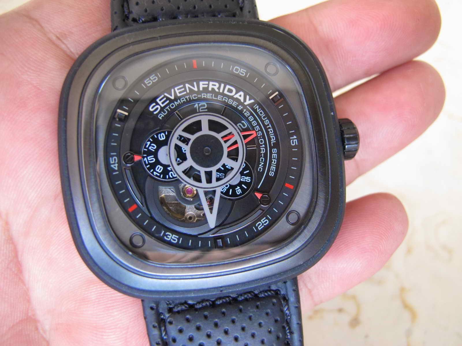 kulit original Seven Friday dan 1 Nato Strap Very nice and unique Seven Friday Watch Cocok untuk Anda yang sedang mencari jam tangan dengan