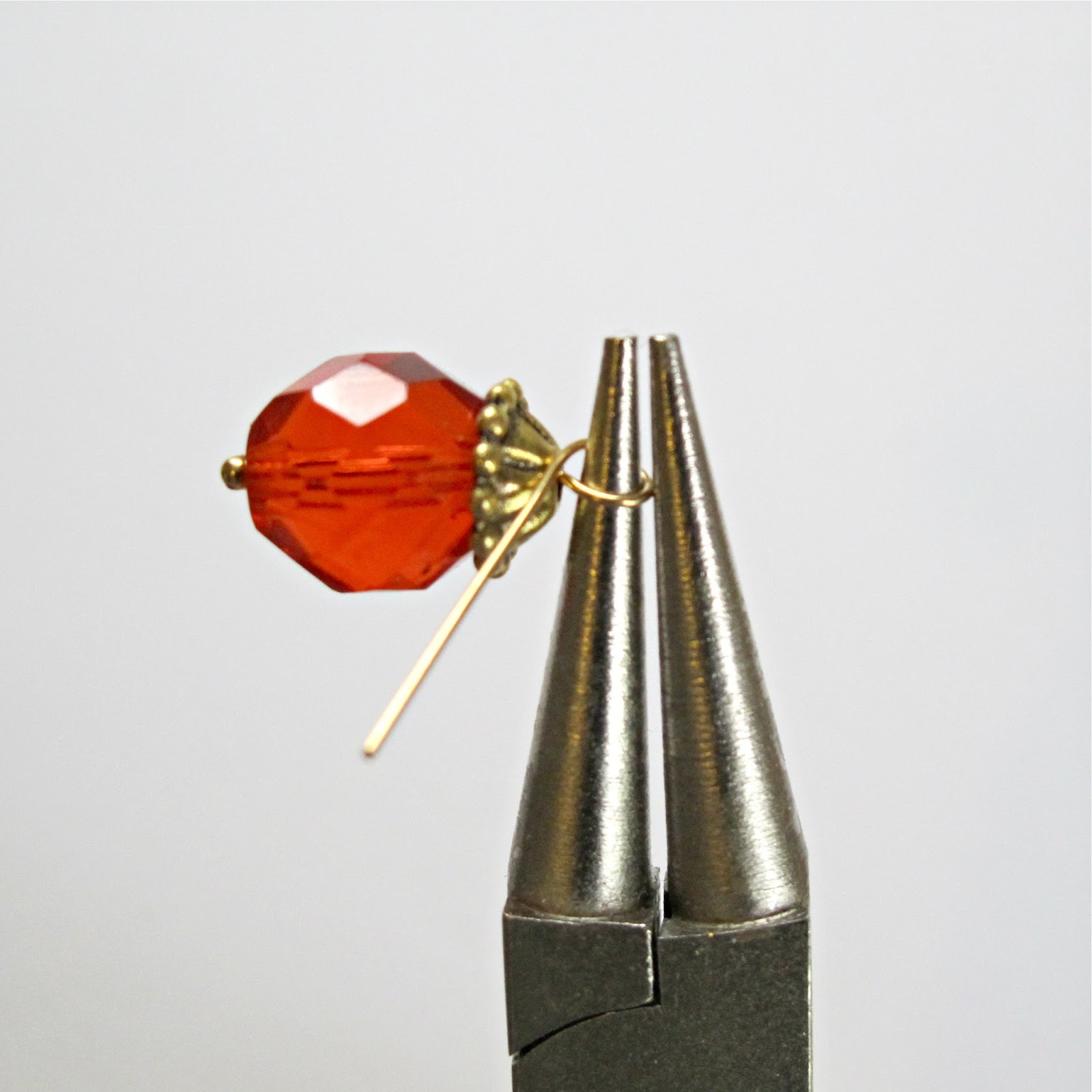 bead dangle earring DIY