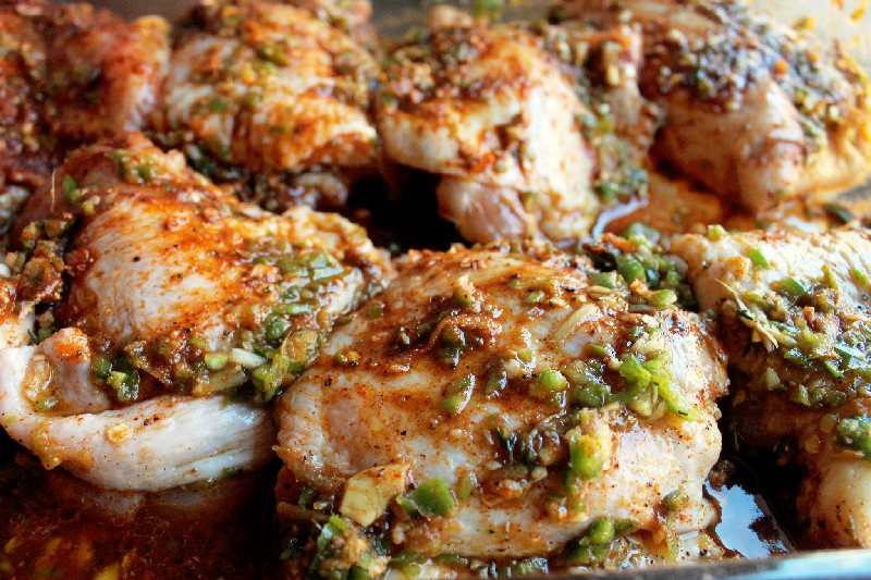 Creole Contessa: Grilled Jerk Chicken with Spicy White Barbeque Sauce