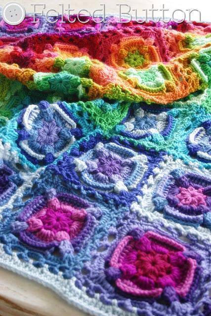 Kaleidoscope Eyes Blanket crochet pattern by Susan Carlson of Felted Button